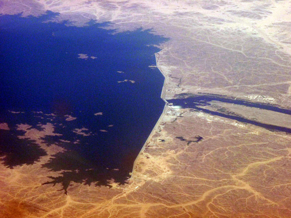 Aerial view of the Merowe Dam in Sudan. Photo by: Lubumbashi.