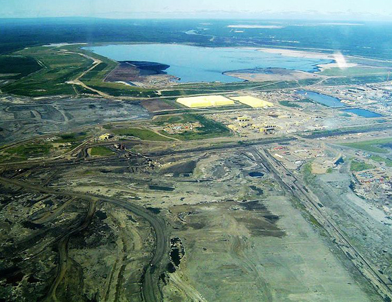 A portion of the tar sands in Alberta as viewed from the air in 2006. Some have dubbed this the 'largest energy project in the world.'