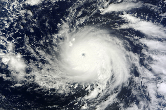 Typhoon Bopha as seen by satellite on December 1st. Photo by: NASA.
