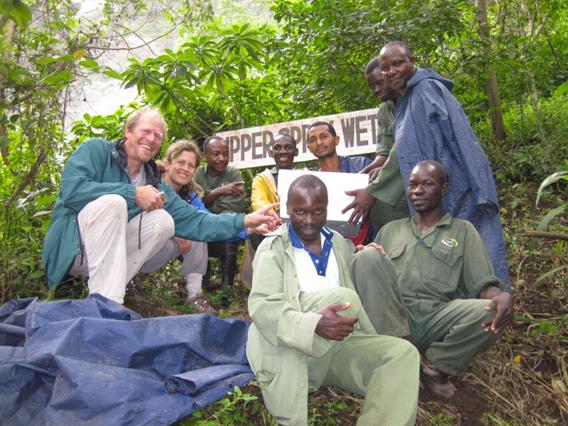 Kihansi upper spray wetland sign. Photo courtesy of Global Wildlife Conservation.