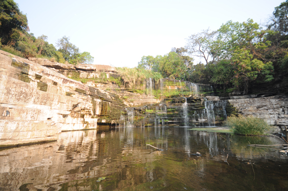 When still a tourist destination, Upemba was known for its marvelous waterfalls. Photo courtesy of the FZS.