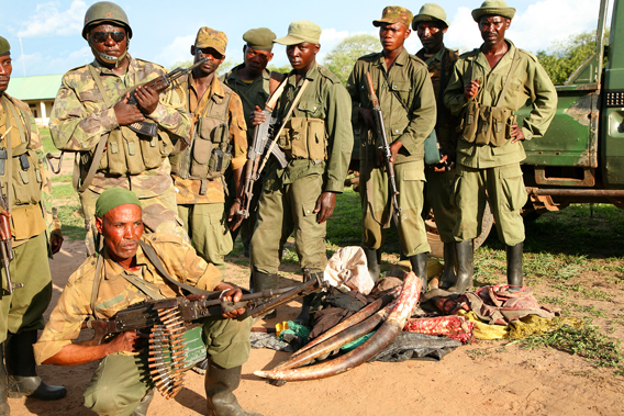 Garamba wildlife rangers. Photo by: Nuria Ortega.