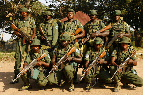 Wildlife rangers for  Garamba National Park. Photo by: Nuria Ortega.