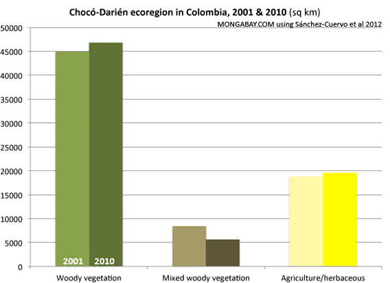 Chart: Chocó-Darién Forest Cover Change in Colombia