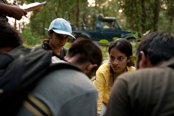 Researchers conduct surveys around Kanha Tiger Reserve. Photo courtesy of Krithi Karanth.