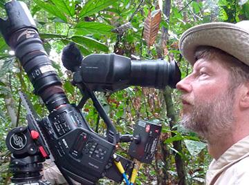 Jyrki Hokkanen filming in Borneo. Photo by: Jyrki Hokkanen.