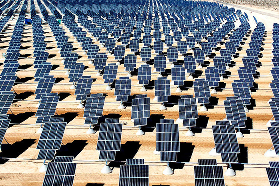 Solar power on Nellis Air Force Base in Nevada. Photo by: U.S. Air Force photo/Airman 1st Class Nadine Y. Barclay.