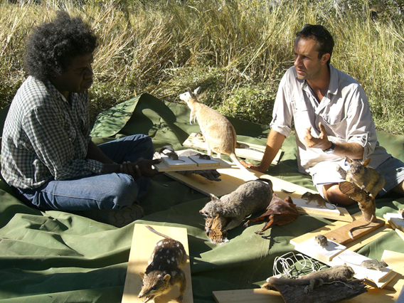 A traditional land owner from the Top End region of the Northern Territory speaks about the status of mammals on his ancestral lands. Photo by: Ian Morris.