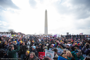 Groups estimated that the crowd ranged from 35,000 to 50,000. Photo by: Joshua Lopez/Project Survival Media.
