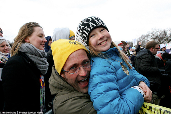 All ages joined in the rally. Photo by: Christine Irvine/Project Survival Media.