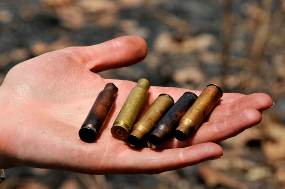 Shell casing from bullets used to kill elephants in Bouba Ndjida. Photo courtesy of IFAW.