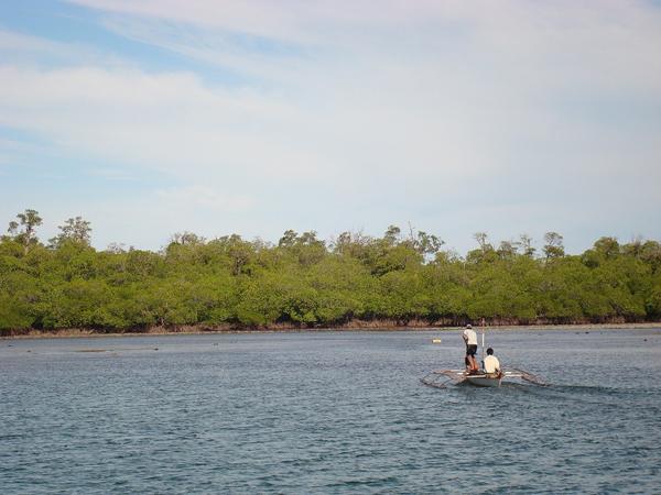 Approaching the Rasa Island Wildlife Sanctuary. Photo courtesy of Katala Foundation.