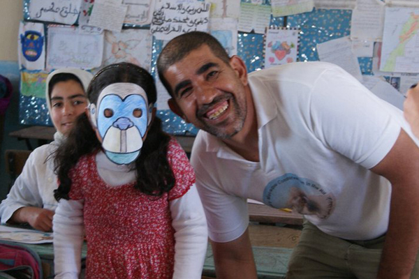 Ahmed El Harrad: PEN's March Educator of the Month. Photo by: Barbary macaque conservation in the Rif.