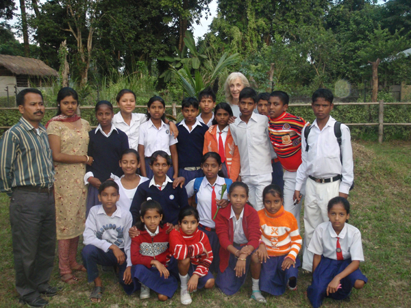 Students in Assam who have participated in the Chester Zoo program. Photo courtesy of: Maggie Esson.
