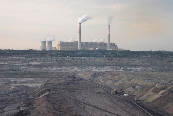 Europe's largest coal-fired power plant in Bełchatów, Poland. Although the most carbon-intensive fuel source on the planet, coal still makes up around 40 percent of the world's energy. Photo by: Stasisław/Public Domain.
