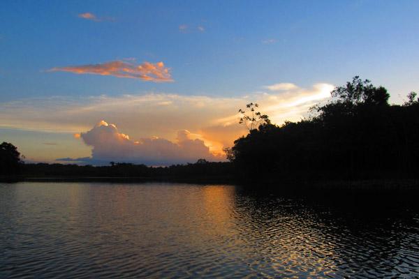 Sunset on Kumaka Pond. Photo by: Liz Smith.