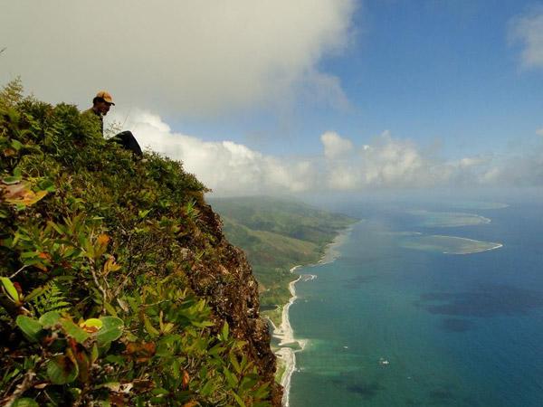 La vista desde el Monte Panié. Foto hecha por: ©Conservación Internacional / foto hecha por François Tron.