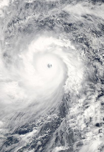 Typhoon Haiyan as it swept toward the Philippines. Photo courtesy of NASA.