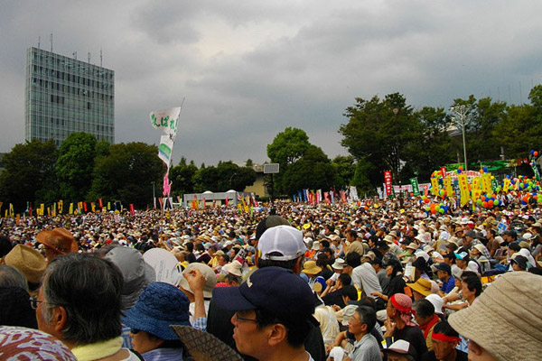 An anti-nuclear power rally in Japan. Photo by: Public Domain.