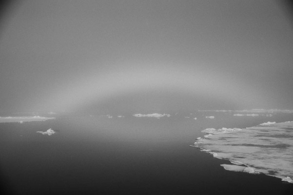 Fogbow in Svalbard. Photo by: Cyril Christo and Marie Wilkinson.