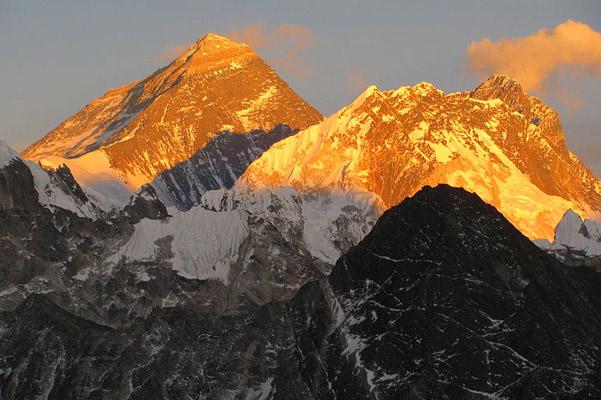 Summit of Mount Everest. Photo by: Kimberly Casey/NASA.
