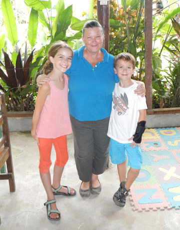 amela Nave of NatureKids with Jamie and Jason. Photo courtesy of the Kraft family.