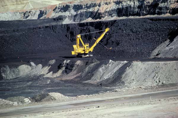 Coal mine in Wyoming. Burning coal is the most carbon-intensive energy source. Photo by: the U.S. Bureau of Land Management.