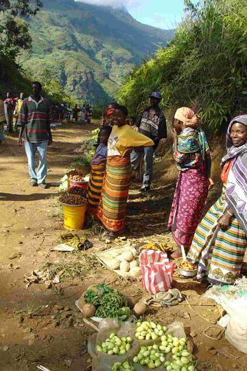 Market in Tanzania. Photo courtesy of Neil Burgess.