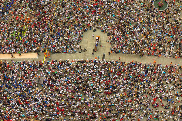 Crowd from above. Photo by: Public Domain.