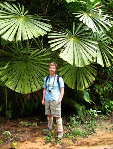 Douglas in the forest in Borneo. Photo courtesy of: M. van Heist.