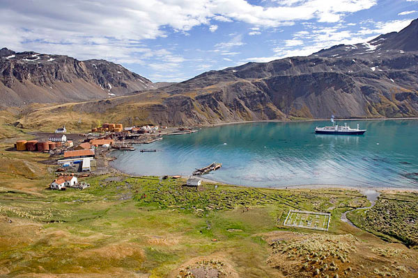 Grytviken Harbor in South Georgia. Photo by: Lexaxis7