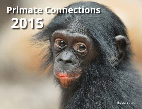 Cover of the 2015 Primate Connections Calendar.