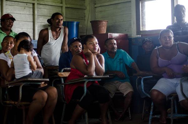 Community members of Bangkukuk. Photo courtesy of Tom Miller.