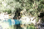 Crystal clear water of Bonito's Lagoa Misteriosa, a collapsed limestone cave