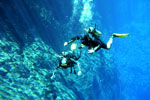 Diver in Lagoa Misteriosa