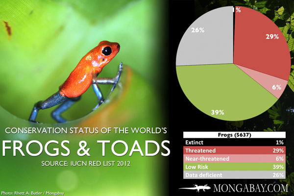 Chart: conservation status of the world's frogs