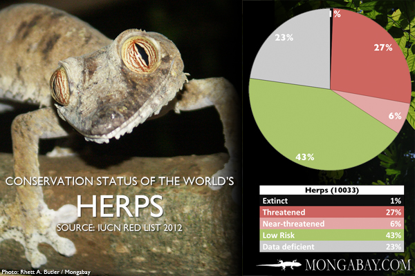 Chart: conservation status of the world's herps