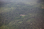 Aerial photo of secondary and primary forest, small-holder cassava cultivation, and forset clearing in the Amazon