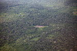 Aerial photo of secondary and primary forest, small-holder cassava cultivation, and forset clearing in the Amazon [colombia_1329]