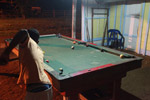 Playing pool in a remote Choco town