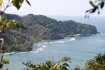 Peninsula that forms the border between Colombia and Panama