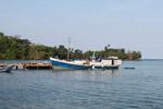 Boat at Sapzurro dock