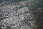 Overhead view of slums of Medillin