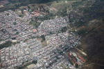 Airplane view of slums of Medillin