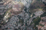 Plane view of slums of Medillin