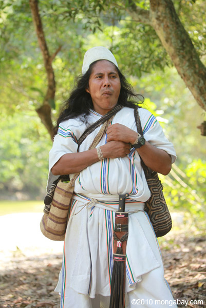 Arhauco man in Colombia. Photo by Rhett A. Butler.