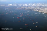 Tankers and ships waiting outside Singapore