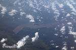 Aerial view of oil palm plantations on peatlands in Sumatra [java_0017]