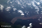Aerial view of oil palm plantations on peatlands in Sumatra [java_0020]