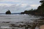 Waves breaking on the ocean-side coastline of Peucang Island [java_0070]